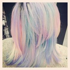 OBSESSED! A client's new pastel hair from the brand new MANIC PANIC Color Asylum Salon at RICKY'S NYC! Our fabulous stylist Lucy, @lalalucy4 created this look. Call 212-768-1174 to book an appointment with her!