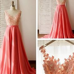 Long chiffon lace evening dress, appliques a-line charming prom dresses,long evening dresses,beading prom dresses xe8