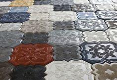 Fraaie serie hexagone vloertegels!