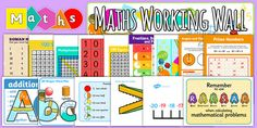 These display posters are a perfect way to show the multiples of different numbers, making them a great addition to your maths classroom! Bright and colourful, they'll add beautifully to your classroom display! Ks2 Classroom, Classroom Signs, Classroom Labels, Classroom Displays, Classroom Ideas, Classroom Organisation, Working Wall Display, Maths Working Wall, Maths Display