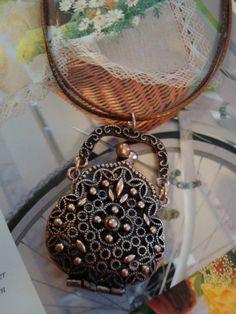 """Necklace Pretty Purse""  From Etsy Shop:   PernillasSS      PernillasSS"