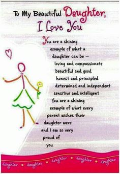 Happy Birthday Quotes to My Daughter . 19 Fresh Happy Birthday Quotes to My Daughter . Birthday Wishes for Daughter In Law Birthday Wishes Mother Daughter Quotes, I Love My Daughter, My Beautiful Daughter, My Love, Happy Birthday Daughter From Mom, Proud Of You Quotes Daughter, Poems For Daughters, Sayings About Daughters, Valentine Daughter Quotes