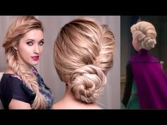Frozen's Elsa hair tutorial for New Year's eve: UPDO, BRAID and HALF UP hairstyles - http://www.fbdeveloper.de/frozens-elsa-hair-tutorial-for-new-years-eve-updo-braid-and-half-up-hairstyles/