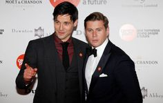 Actors Rob James Collier and Allen Leech arrive for the Downton Abbey Ball at the Savoy Hotel in central London, April 30, 2015. REUTERS/Suzanne Plunkett..