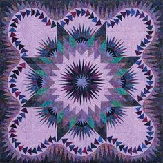 Judy Neimeyer's - Dragon Star x 65 inches] Quilting Projects, Quilting Designs, Quilt Design, Star Patterns, Quilt Patterns, Dragon Star, Purple Quilts, Foundation Paper Piecing, Star Quilts