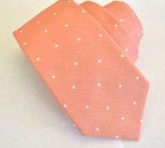 washed coral mens tie,cotton neckties,groomsman neckties, by ClipABowTie on Etsy https://www.etsy.com/listing/271006311/washed-coral-mens-tiecotton