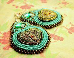 Voyage en Arabie n.22 - Bead Embroidery Earrings
