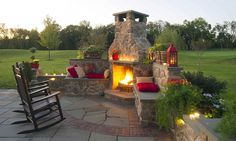 Bucks County Outdoor Fire Pit & Fireplace Design | Firepit Construction in Richboro PA | Gasper Landscape Design & Construction