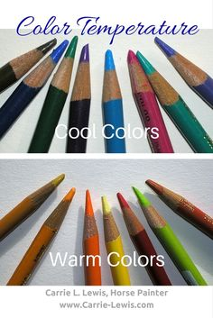 "Color temperature refers to whether a color looks ""cool"" or ""warm"". Blues and greens are generally cool. Reds and yellows are generally warm."