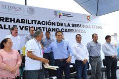 Arranca el gobernador de Michoacán la rehabilitación de la segunda etapa de la calle Venustiano Carranza en el municipio de Queréndaro; para la realización de la obra se destinarán 2 ...
