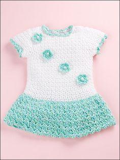 Crochet - Patterns for Children & Babies - Dress Patterns - Baby & Teddy T-Shirt Dress