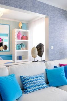 Youngsters Area Home Furnishings Cool Blue Maria Barros World Of Interiors, 2017 Design, Composition Design, Interior Design Studio, Beautiful Space, Home Decor Accessories, Decoration, House Colors, Colorful Interiors