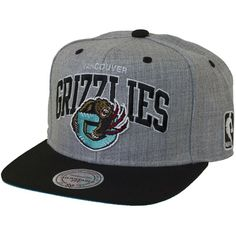 Mitchell & Ness Vancouver Grizzlies Heather Wool Scripop Snapback Cap ★★★★★