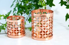 Copper tealight lanterns, copper tealight holders, copper candle lantern, copper lantern, copper candle holder, copper candlestick by VintageEuropeDesign on Etsy