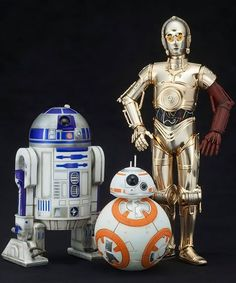Star Wars C-3PO & R2-D2 With BB-8 ARTFX+ Statues