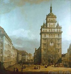 Bernardo Bellotto - Die Kreuzkirche zu Dresden