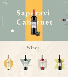 Food Web Design, Simple Web Design, Wine Design, Label Design, Branding Design, Wine Websites, Interface Web, Wine Poster, Wine Brands