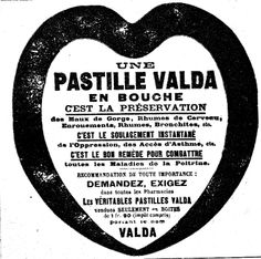 Pastille Valda. 1920s.