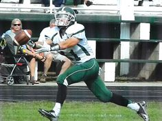 Greenville freshman Justin Brown stretches for touchdown reception in a win against Tippecanoe. #advocate360