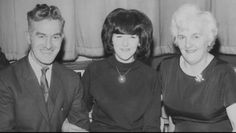 Harold and Louise Harrison and Freda Kelly