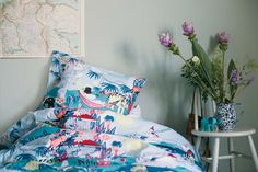 Bold bedding: Moomins duvet cover sets for kids by Finlayson - Junior Hipster