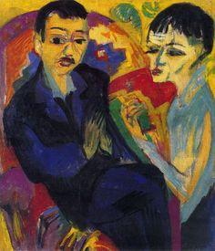 Ernst Ludwig Kirchner, Brace Seated, c. 1917-20