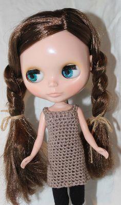 Singlet Dress,  crochet pattern pdf  for blythe