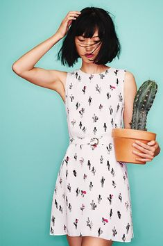 KENZO Cartoon Cactus Dress
