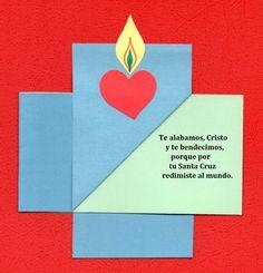 El Rincón de las Melli: Tarjeta plegada en forma de cruz
