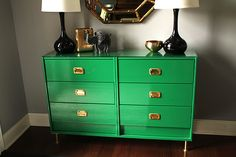 campaign inspired ikea rast makeover painted in a lovely shade of emerald
