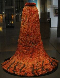 Parrot feather dress