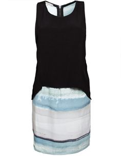 Dagmar Lutha Woven Dress Tonal Print