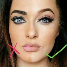 Drawing eyeliner is an art in itself and it needs precision, focus and some effort to get a wonderful result. For highlighting your eyes we have collected Contouring Makeup, Eye Makeup Tips, Eyebrow Makeup, Hair Makeup, Makeup Ideas, Makeup Quiz, Eyebrow Shading, Makeup Meme, Permanent Makeup Eyebrows