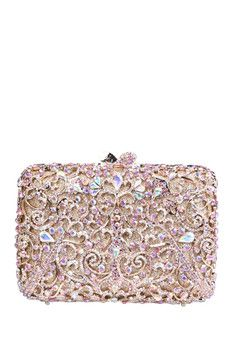 the Nude Face Pink Swirl Clutch