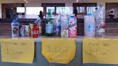 Gezien: verduidelijking van het concept 'liter'.
