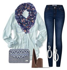 """Blue Jean Blues"" by jenney-rae on Polyvore featuring Aéropostale, Charlotte Russe, 2LUV, Nine West, Roxy and Ippolita"