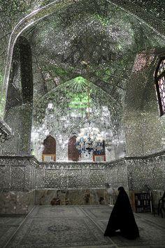 Mirrored Mosque, Shiraz, Iran.