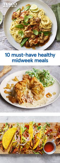 Healthy eating just got easy with these speedy midweek meals, all ready in under 30 mins. From golden fish pies to sizzling stir fries, weve got all the inspiration you need. Healthy Eating Recipes, Healthy Drinks, Cooking Recipes, Healthy Food, Tesco Real Food, Midweek Meals, Golden Fish, Fish Dishes, Lunches And Dinners