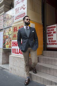 Elegancia y calcetines