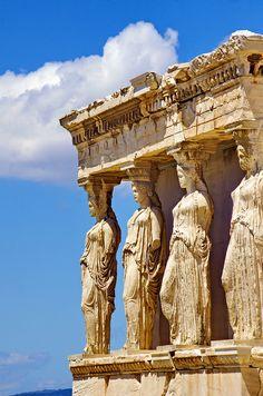 Athènes , Acropole, Erechtheion, les cariatides Greece