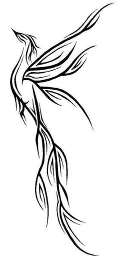 pheonix, I want this on my back, no black outlines, just shades of red/orange