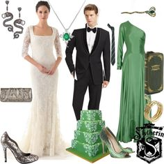 """Slytherin Wedding"" by thaliagirl on Polyvore"
