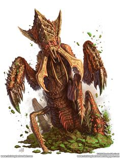 Ankheg - 5th Edition Monster Manual by christopherburdett | Create your own roleplaying game books w/ RPG Bard: www.rpgbard.com | Pathfinder PFRPG Dungeons and Dragons ADND DND OGL d20 OSR OSRIC Warhammer 40000 40k Fantasy Roleplay WFRP Star Wars Exalted World of Darkness Dragon Age Iron Kingdoms Fate Core System Savage Worlds Shadowrun Dungeon Crawl Classics DCC Call of Cthulhu CoC Basic Role Playing BRP Traveller Battletech The One Ring TOR fantasy science fiction horror