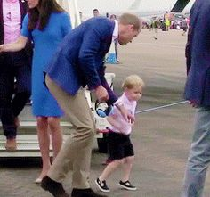 Britain's Prince George attends Royal International Air Tattoo