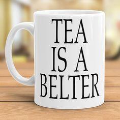Tea is a Belter Coffee or Tea Gift Mug inspired by Gerry Cinnamon Erratic Cinematic Glasgow Scotland Tea Gifts, Gifts In A Mug, Glasgow Scotland, Cinnamon, Mugs, Inspired, Coffee, Tableware, Unique Jewelry