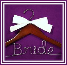 Personalized Custom Bridal Hanger, Brides Hanger, Bride, Name Hanger, Wedding Hanger, Personalized Bridal Gift. $16.99, via Etsy.