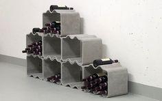 Stackable modular wine rack - Thing Design