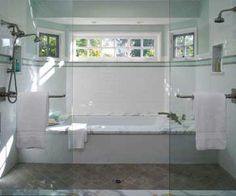Wet Room, now that's a great idea.  Shower/tub one room !