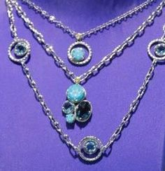 Enter to WIN an amazing $560. 4-stone turquoise and blue topaz TACORI necklace! (center necklace)  Just LIKE us at www.facebook.com.jewelry.studio.bozeman