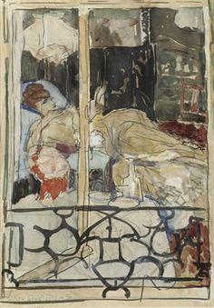 Jan Sluijters - Een lezende vrouw (1910)